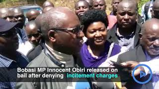 Bobasi MP Innocent Obiri released on a 150,000 bail