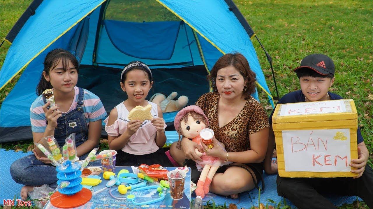 Trò Chơi Đi Bán Kem - Mẹ Mua Kem Bánh Cá và Kem Ốc Quế   MN Toys