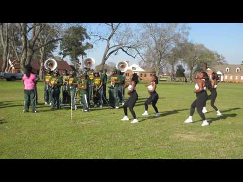 Concordia College Marching Band At The Celebrating The Men's & Women's Basketball Championship