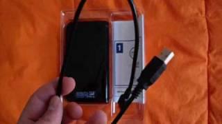 Western Digital My Passport 250GB portable hard drive unboxing,  Adam Sandler Werewolves Of London