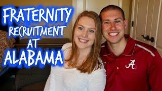Rushing At The University of Alabama   Fraternity Recruitment