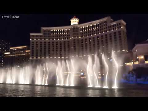 Fountain Dance In Bellagio Hotel In Las Vegas USA