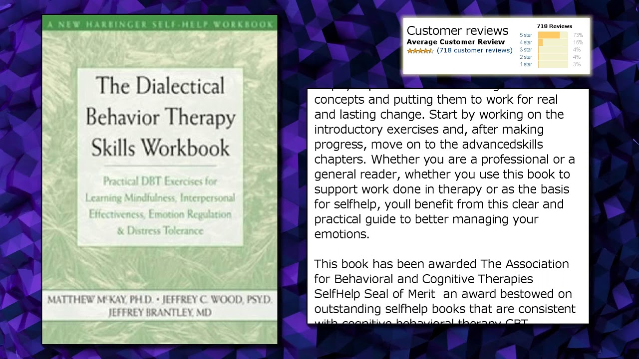 The Dialectical Behavior Therapy Skills Workbook: Practical DBT ...