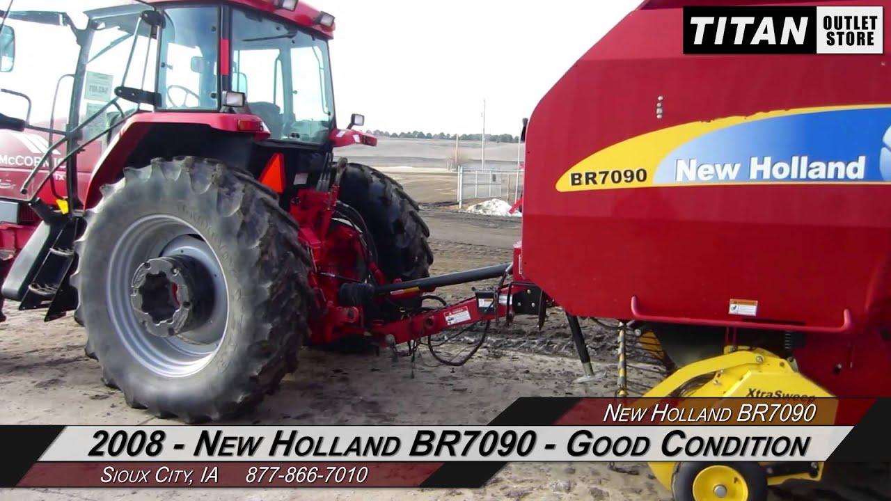 New Holland BR7090, Belt Type, Net Wrap, No Twine Arm Baler-Round Sold on  ELS!