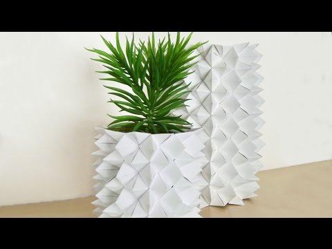 DIY Origami Vase, Himmel& Hölle Vase, Fortune Teller Vase