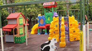 Обзор детской площадки в Турции и дискотека для детей