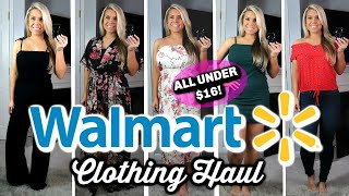WALMART TRY ON CLOTHING HAUL | UNDER $16 | SPRING & SUMMER
