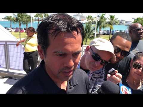 Udonis Haslem, Erik Spoelstra media interviews at 2017 Miami Heat Family Festival