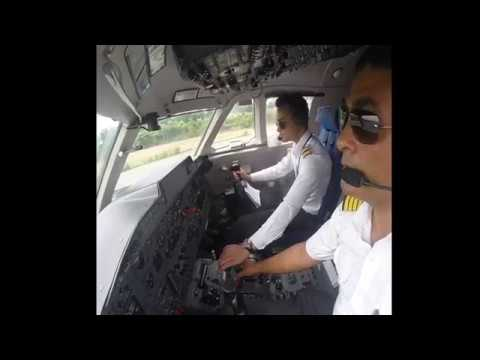 MA60 Takeoff Cockpit view Nepal Airlines