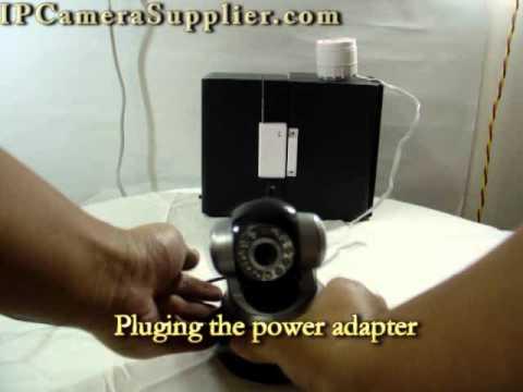 Alarm IP Camera With Siren,Wireless Door Sensor And Wireless Controller