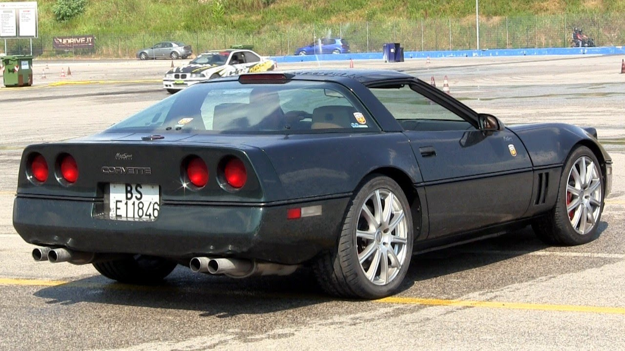Modified Corvette C4 LOUD V8 SOUND