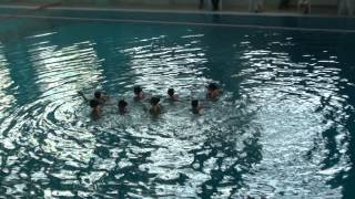 синхронное плавание маленькие  групповички Алматы