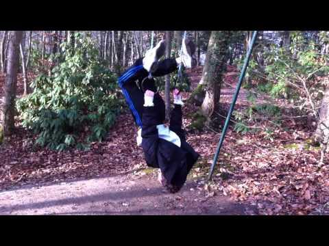 Ben doing acrobats in France