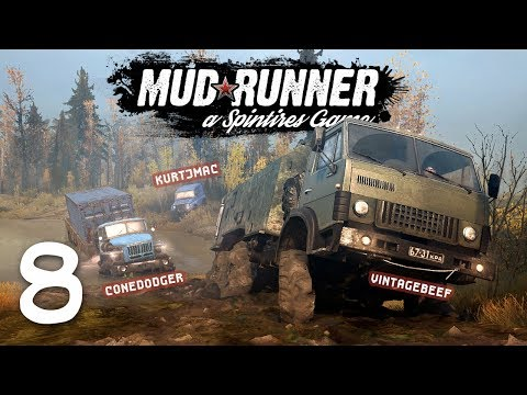Spintires: Mudrunner Co-op w/ Beef & Cone - 8 - All Downhill