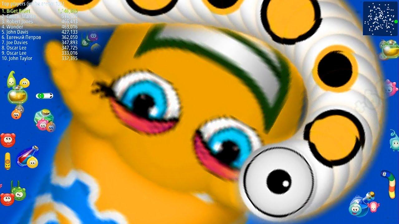 WormsZone.io 2,127,000 +Score Giant Slither Snake Top 01 /Best World Record WormsZoneio Gameplay #53
