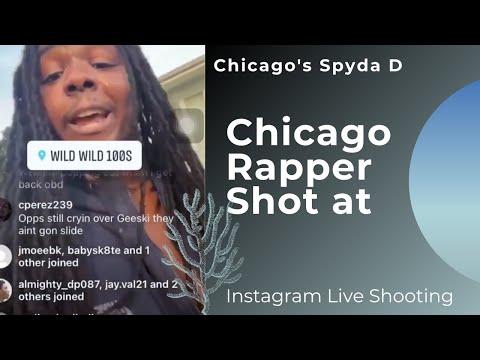 Chicago Rapper Spyda D shot at while on Instagram live