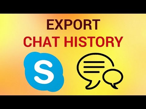How To Export Skype Chat History