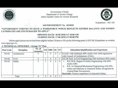 Department of Atomic Energy technician vacancies for diploma and iti holders