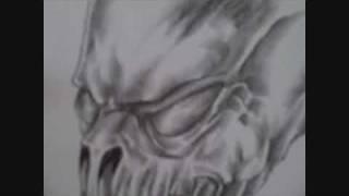 Demonic Skull Art Drawing Video