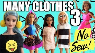 How to make No Sew Barbie Clothes. PART 3 Very Easy! Crafts with Dolls