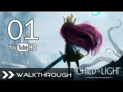 Child of Light Walkthrough Gameplay - Part 1 (Queen of the Night Boss Fight) HD 1080p No Commentary