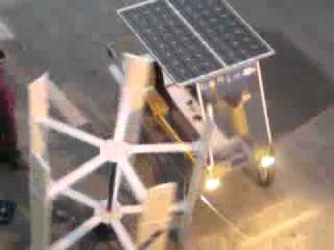 Solar Bicycle & Wind Turbine In Palestine