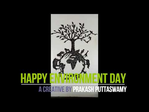 Save Tree Artwork, ENVIRONMENT DAY, GUNPOWDER ART WORK, SAVE TREE, SAVE EARTH