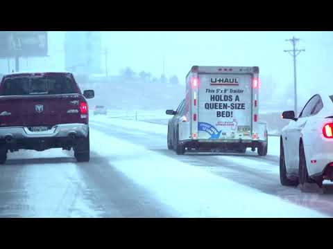 02-24-2020 Rapid City, SD - Slide-Offs Accidents Snowy Travel