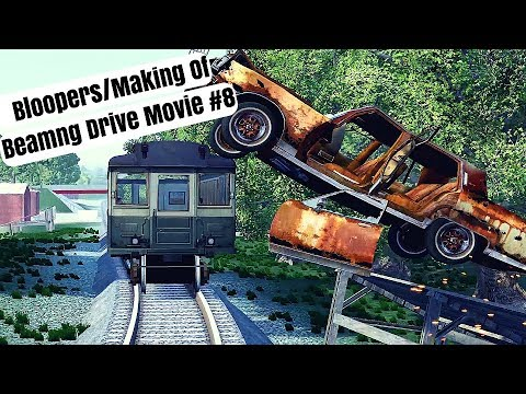 Beamng Drive Bloopers/Making Of Movie: Epic Chase Leads To Multiple Crashes (+Sound Effects)