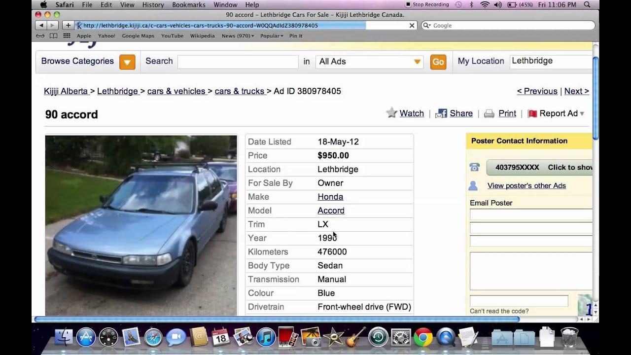 Kijiji Lethbridge Used Cars and Trucks - Models Under $4000 ...