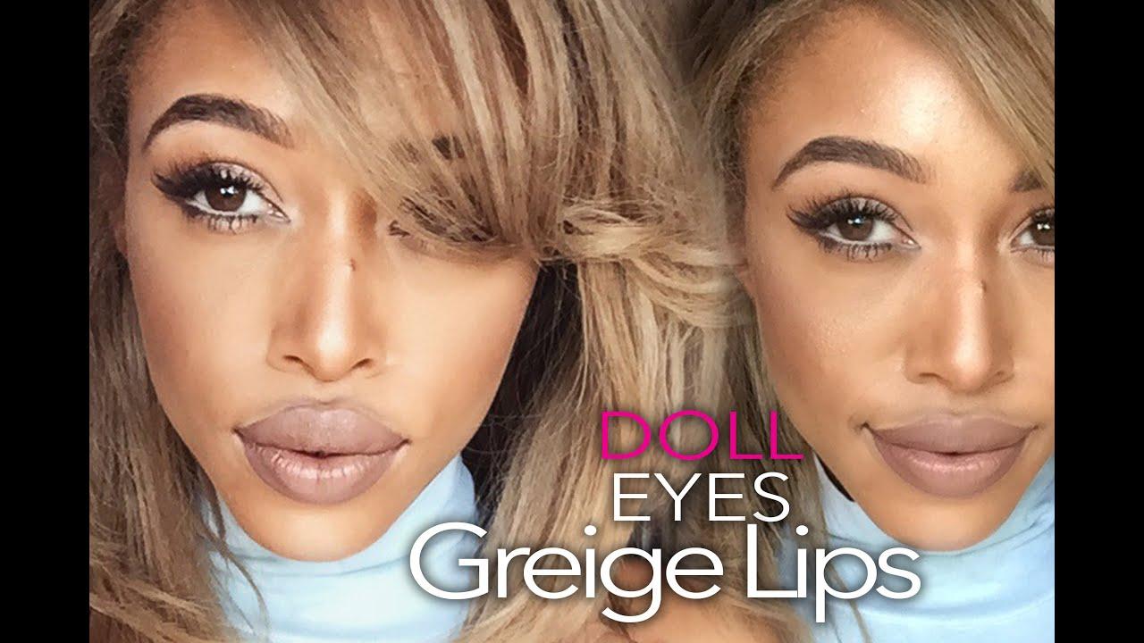 70290b41d0f GRWM: Twinkling Doll eyes and 'Greige' Lip by Jaleesa Moses