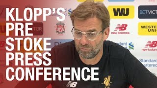 Jürgen Klopp's pre-Stoke press conference from Melwood | Mane update, Gerrard and team selections