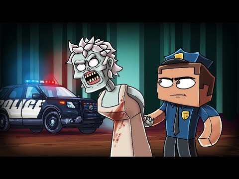 Minecraft - GRANNY GETS ARRESTED BY POLICE! (Sneaking into Granny's HOUSE)