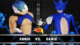TAW - Sonic vs Sanic (Sonic Movie Promo) 2/13/20 WWE 2K18