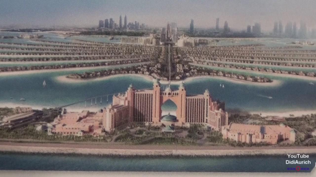 VAE Dubai Palm Jumeirah Monorail Schwebebahn Atlantis the Palm Metro Dubai DUBAI MONORAIL Ride ...
