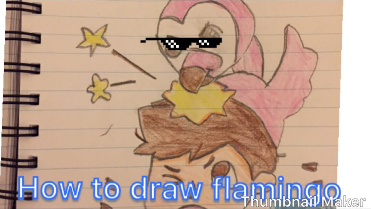 How To Draw Albert Flamingo The Youtuber Youtube