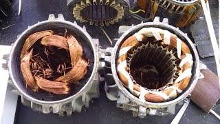 Ремонт электродвигателя, сушка после перемотки и пропитки лаком дедовским способом(, 2016-03-03T15:18:02.000Z)