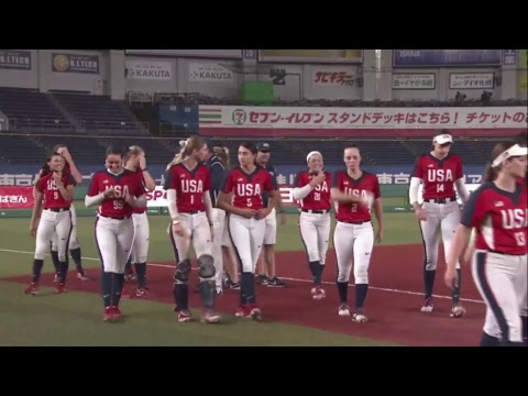 Japan Vs USA - Playoff Round Games - WBSC Women's Softball World Championship 2018