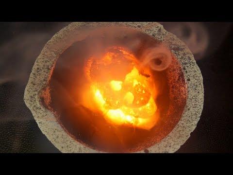 Volcán De Permanganato De Potasio. Reacción Violenta