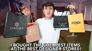 I Bought The CHEAPEST Items From Versace, Fendi, Burberry & MCM!
