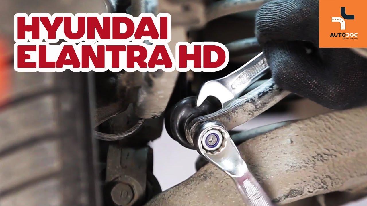 Cómo cambiar la bieletas de suspension trasera en HYUNDAI ...