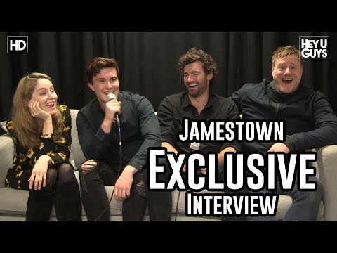 Jamestown Season 2   Sophie Rundle, Luke Roskell, Stuart Martin & Steven Waddington