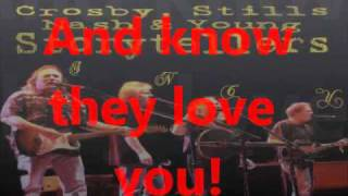 teach your children- csny (on-screen lyrics)