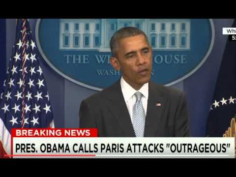 Obama : Paris attacks 'an outrageous attempt' fo...