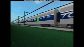 ROBLOX World Tour in France TGV High Speed Train.