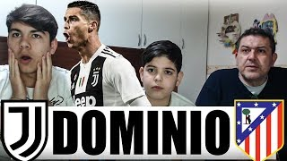DOMINIO! RONALDO FENOMENO! JUVENTUS-ATLETICO MADRID 3-0 | LIVE REACTION