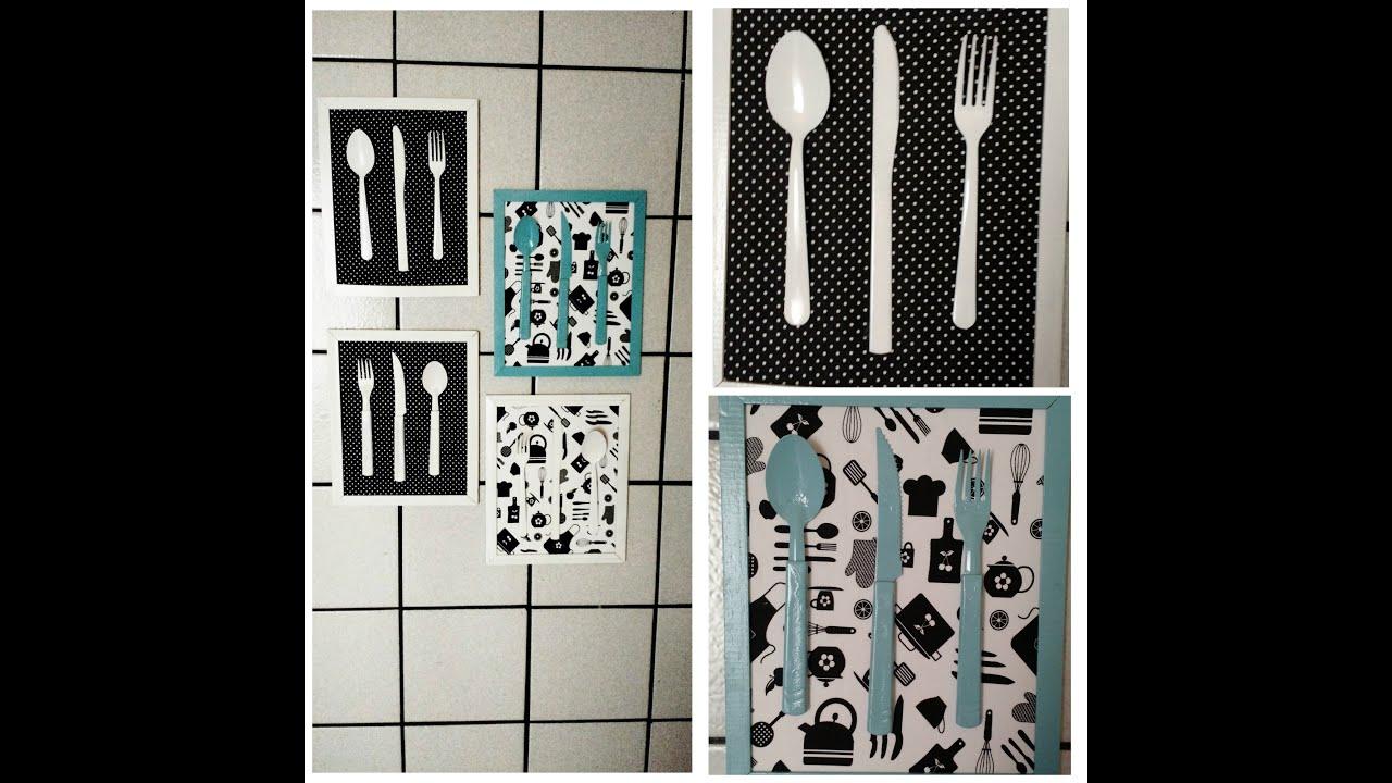 DIYQuadro decorativo para Cozinha!!  YouTube # Decorar Cozinha Diy