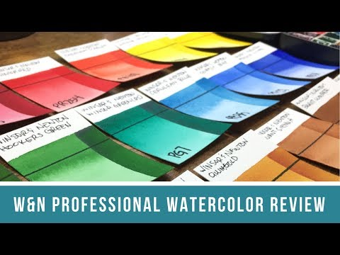 Winsor & Newton Professional Watercolor Review | Side-by-Side Swatch Comparison