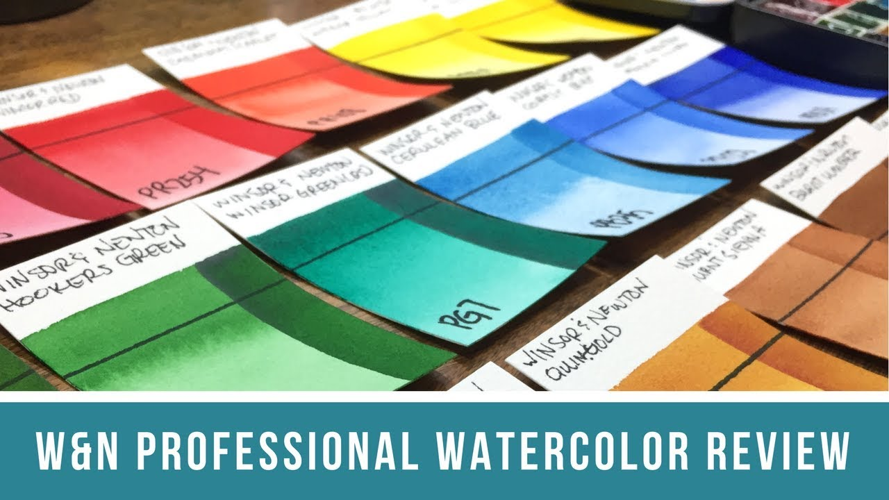 winsor newton professional watercolor review side by side swatch