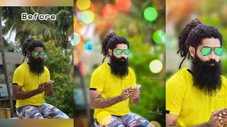 Photoshop Cc Tutorial |Outdoor Portrait Edit With Bokeh Effect(In Tamil)